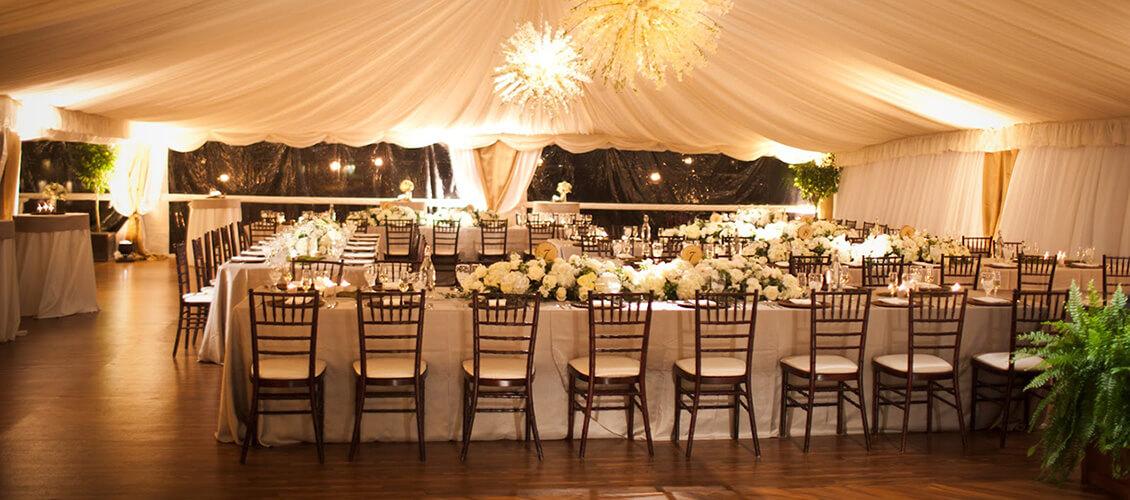 Marquee Tent Winter Wedding